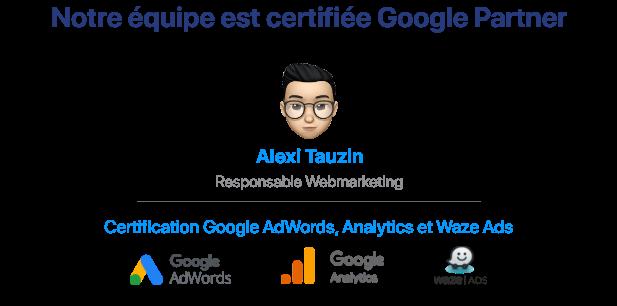 Alexi Tauzin Google Partner à l'Agence Tiz