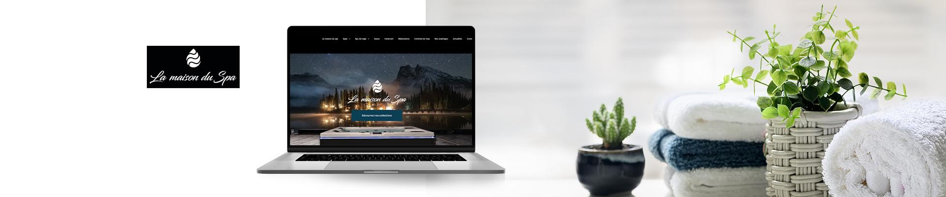 création du site internet la maison du spa