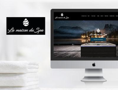 création site vitrine maison du spa