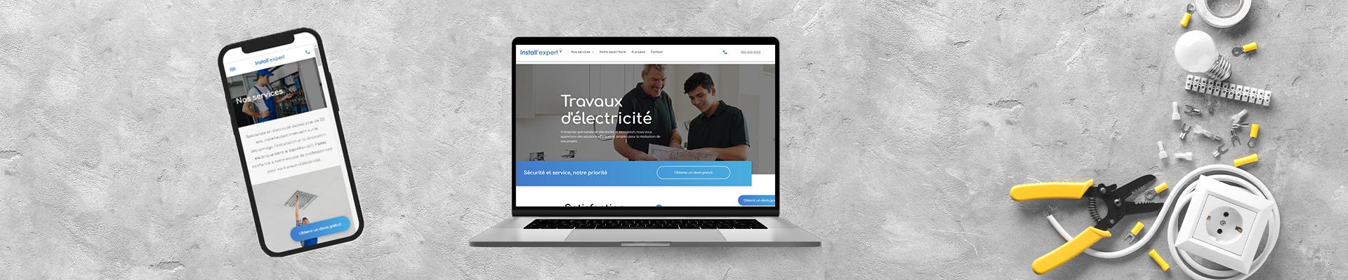 création d'un site web pour artisan électricien