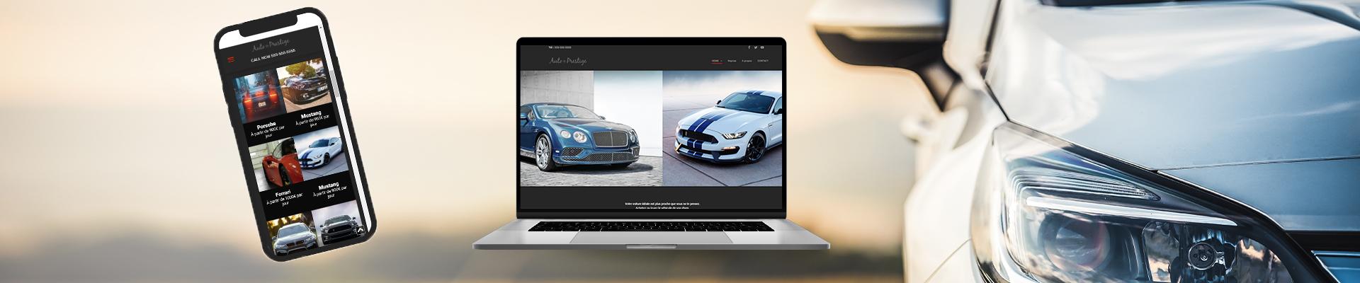 création d'un site internet pour secteur automobile