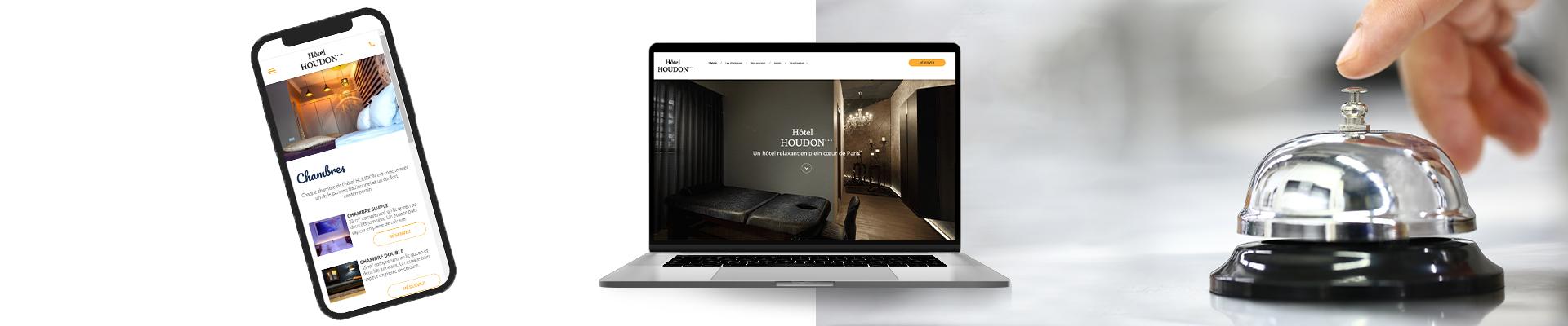 création d'un site web pour un hôtel