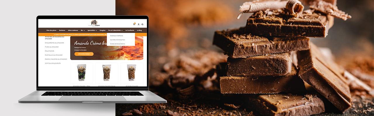 conception du site e-commerce de Confiserie Adam