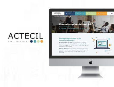 site web de Actecil conçu par l'Agence Tiz