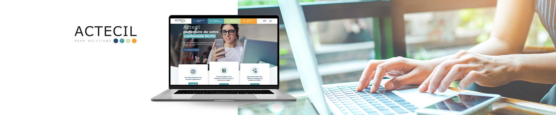projet site web Actectil par l'Agence Tiz