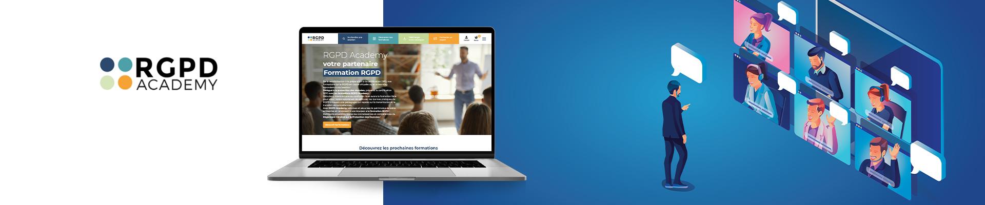 conception site web RGPD academy