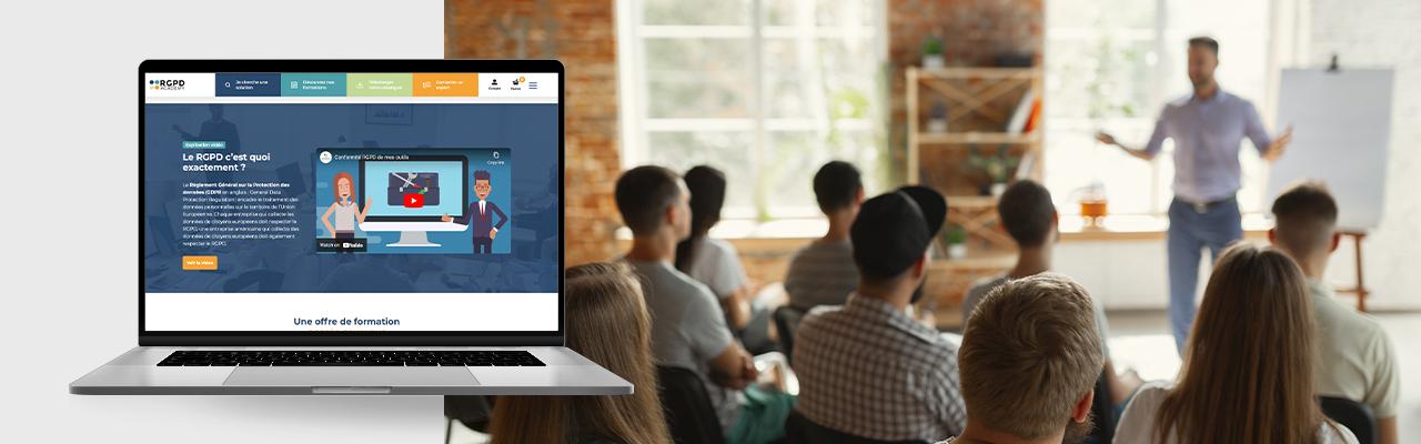 site e-commerce RGPD Academy par l'agence Tiz