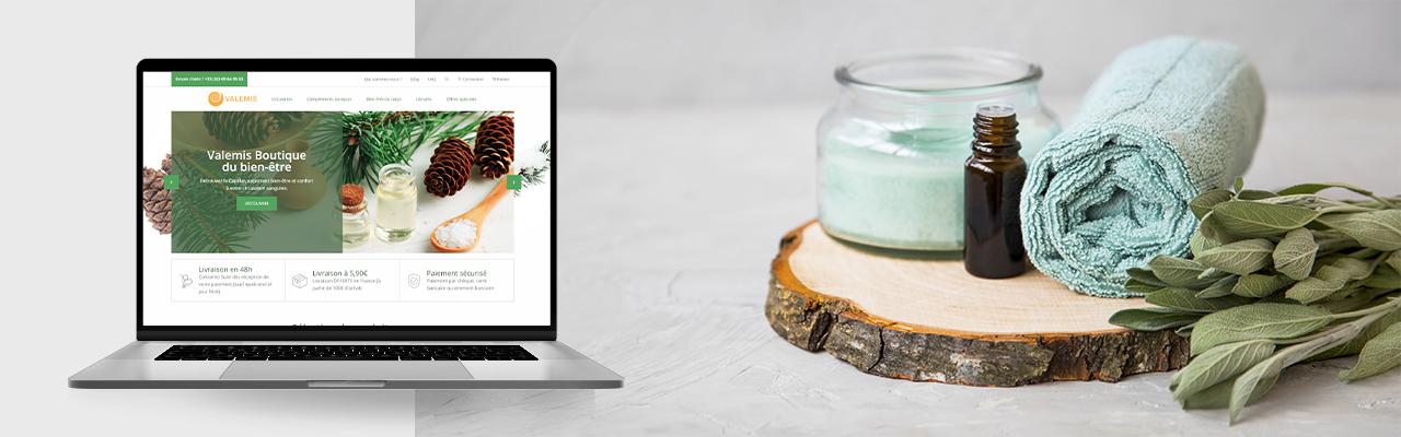 refonte site web Valemis par l'agence Tiz