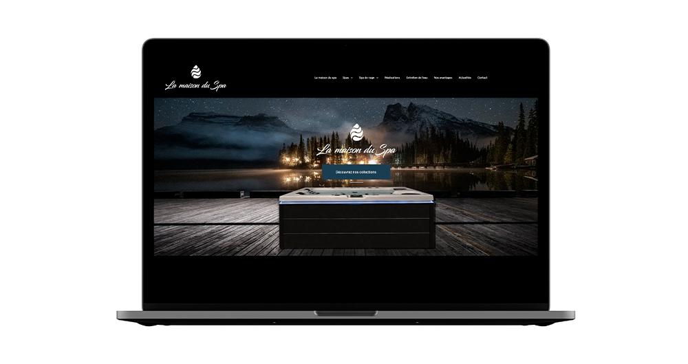 Site web La Maison du Spa avec la technologie Duda - Pourquoi se faire accompagner d'une agence pour le Low-Code No-Code ?